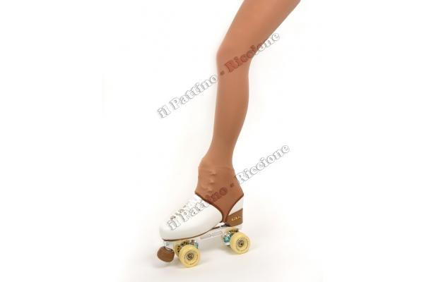 Pantyhose skating natural color with stirrup 50/60 DEN