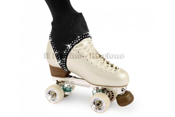 Pantyhose skating black color with stirrup 50/60 DEN and rhinestones