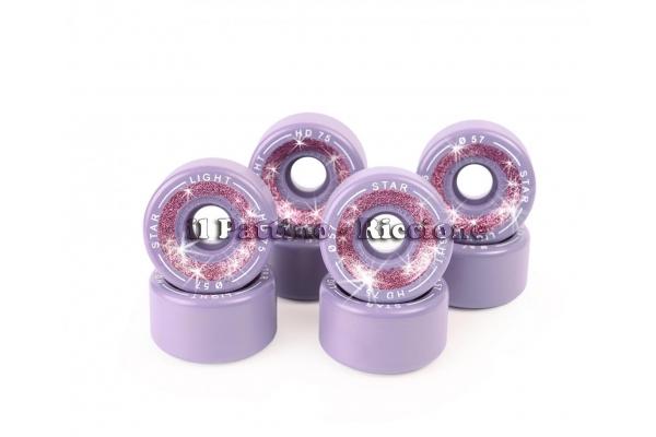Wheels Star Boiani whit Glitter HD 75 diam. 57 mm violet