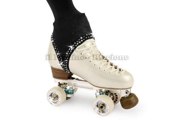 Pantyhose skating black color with rhinestones on the stirrup