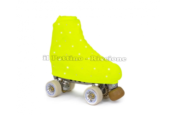 Skate cover yellow fluo with strass