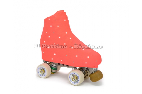 Skate cover peach fluo with Strass