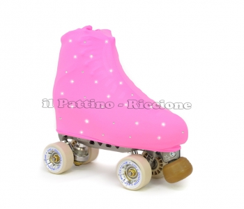 Skate cover pink with Strass