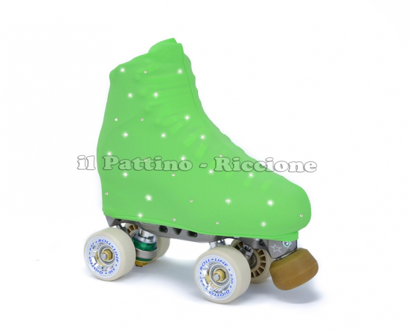 Skate cover green with strass