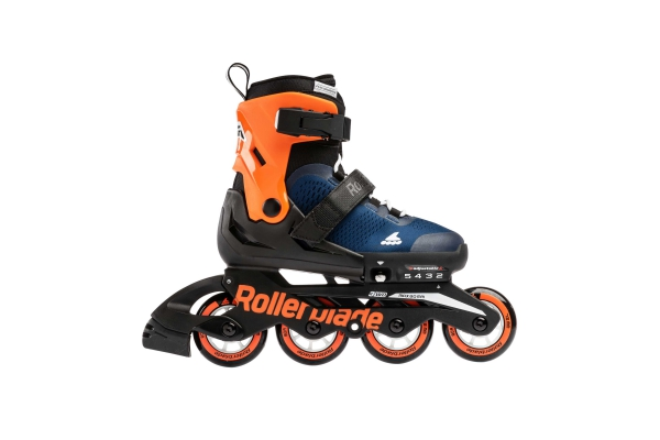 Skates Rollerblade Microblade midnight blue/warm orange