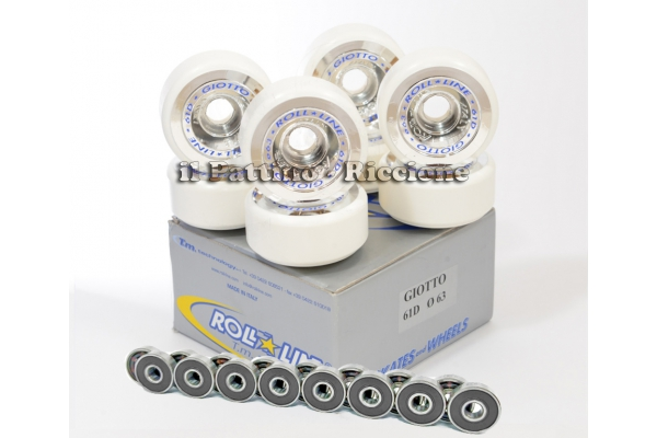 Wheels Giotto 61D - diam.63 with Bearings