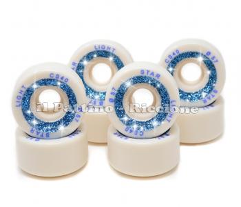 Wheels Star Boiani with Glitter CS 40 diam. 57 mm White