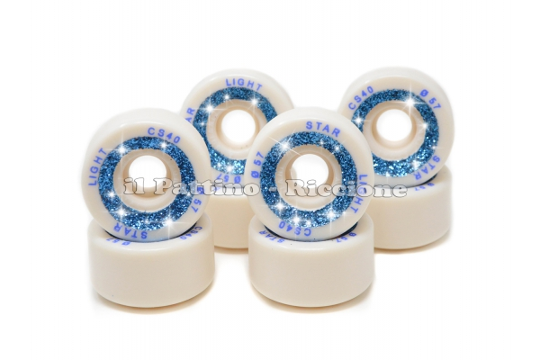 Wheels Star Boiani with Glitter CS 40 diam. 57 mm White