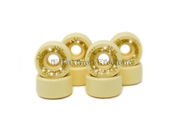Wheels Star Boiani with Glitter HD 80 diam. 57 mm Yellow