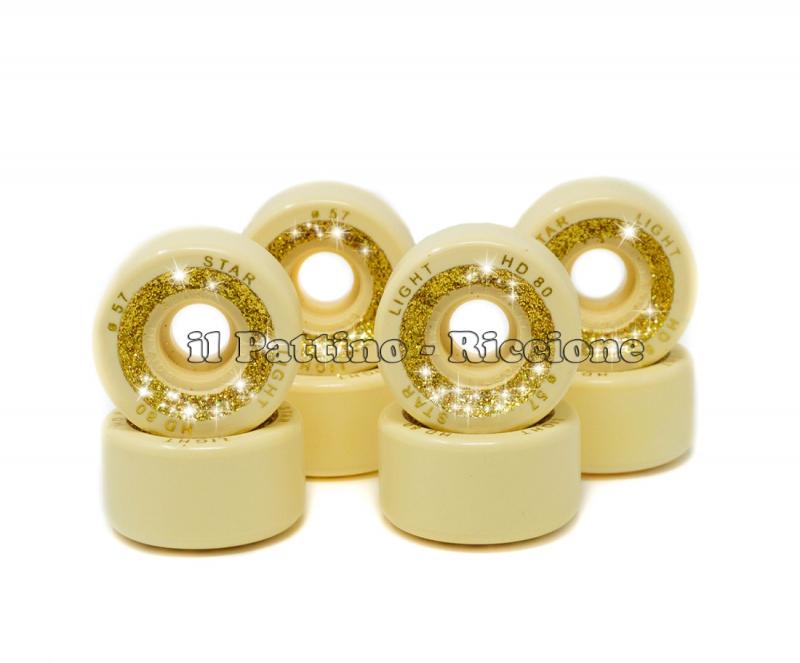 Wheels Star Boiani with Glitter HD 80 diam. 57 mm Yellow