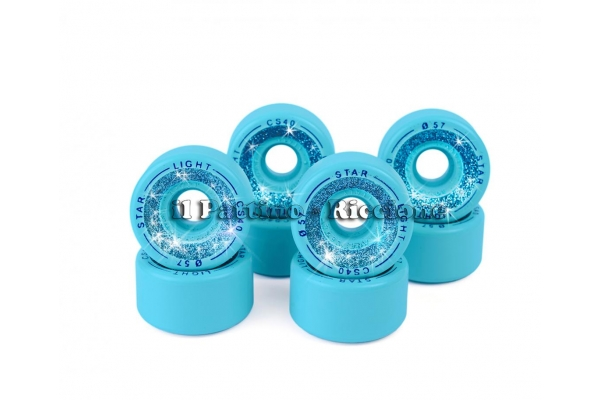 Wheels Star Boiani with Glitter CS 40 diam. 57 mm blue