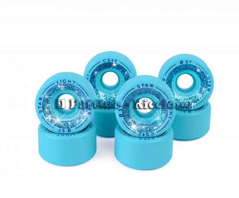Wheels Star Boiani with Glitter CS 40 diam. 57 mm blue