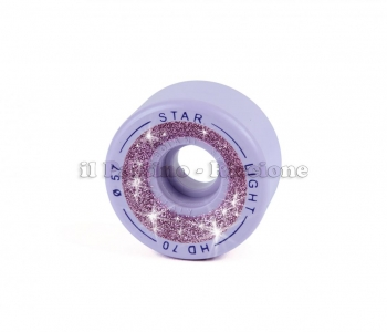 Wheels Star Boiani with Glitter HD 70 diam. 57 mm Lilac
