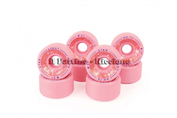 Wheels Star Boiani whit Glitter HD70 diam. 57 mm pink