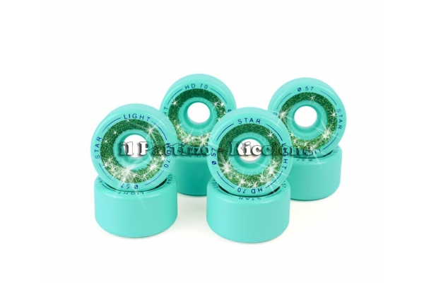 Wheels Star Boiani with Glitter HD 70 diam. 57 mm Green