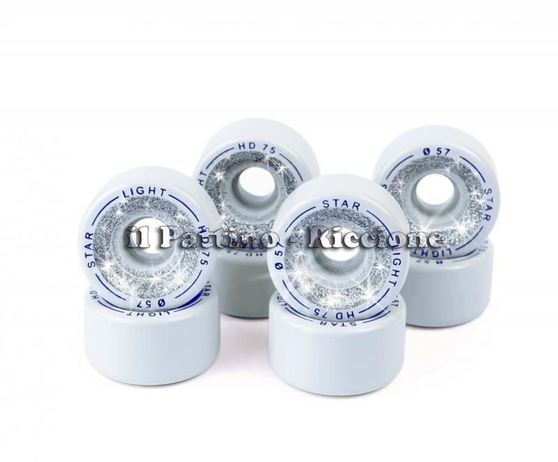 Wheels Star Boiani with Glitter HD 75 diam. 57 mm Grey