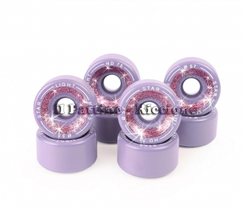 Wheels Star Boiani with Glitter HD 75 diam. 57 mm Purple